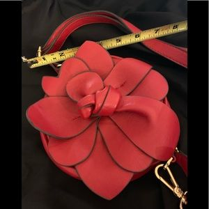 "New adorable Red 7"" Round Flower 🌺 purse zipper"